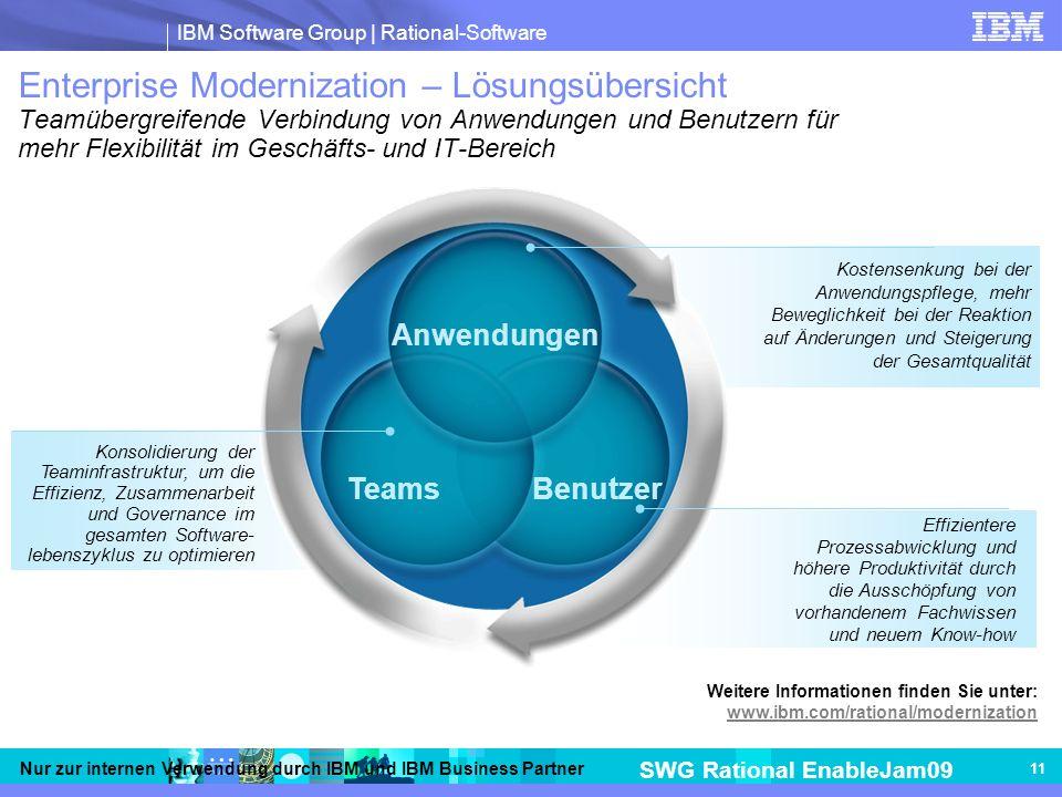 Enterprise Modernization – Lösungsübersicht Teamübergreifende Verbindung von Anwendungen und Benutzern für mehr Flexibilität im Geschäfts- und IT-Bereich