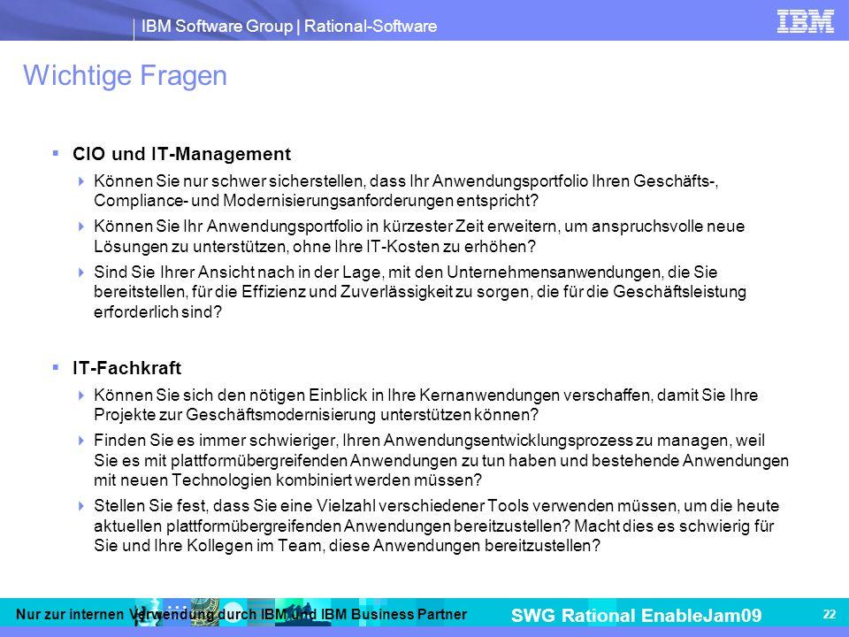 Wichtige Fragen CIO und IT-Management IT-Fachkraft