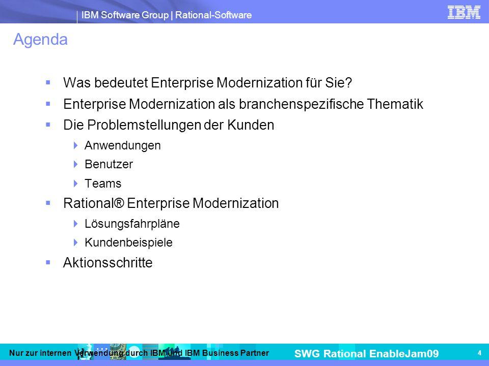 Agenda Was bedeutet Enterprise Modernization für Sie