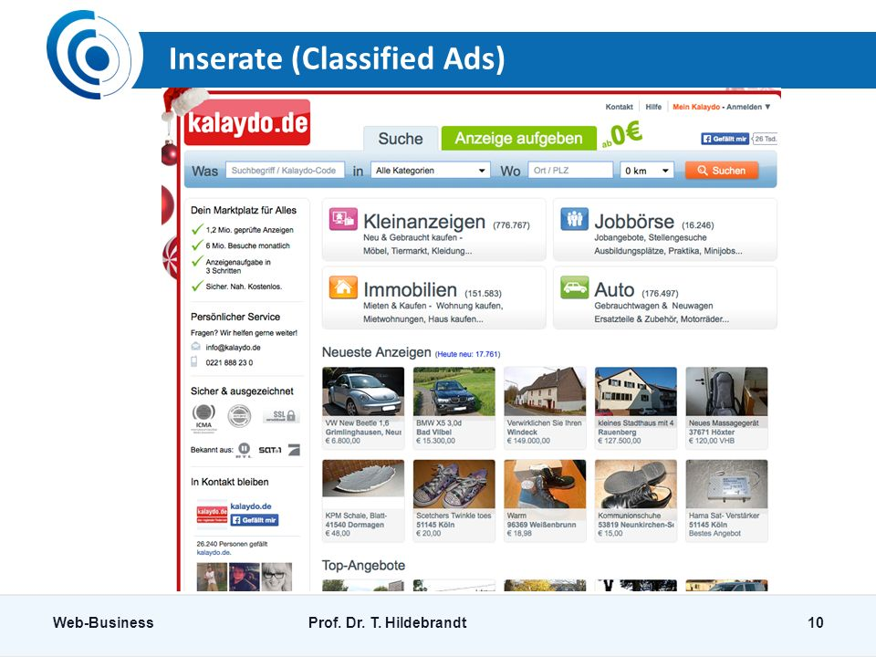 Inserate (Classified Ads)