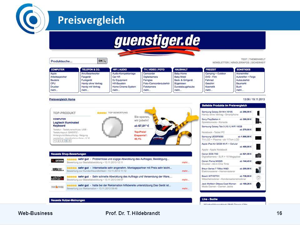 Preisvergleich Web-Business Prof. Dr. T. Hildebrandt