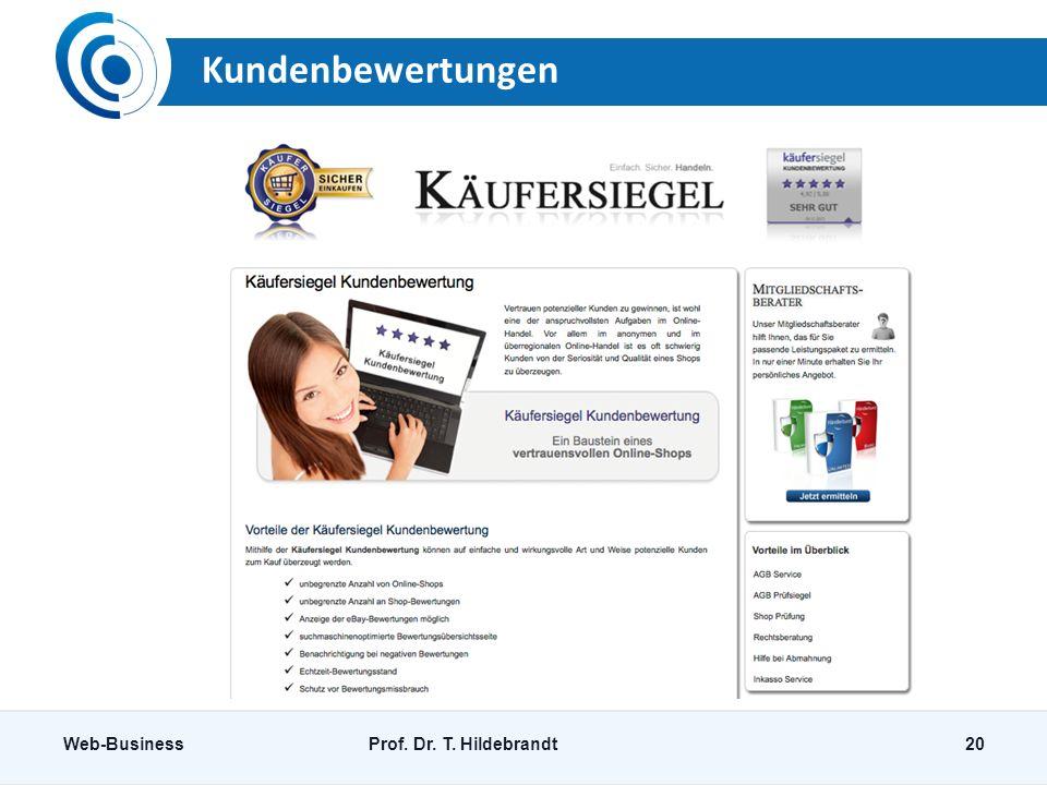 Kundenbewertungen Web-Business Prof. Dr. T. Hildebrandt