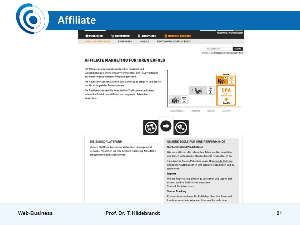 Affiliate Web-Business Prof. Dr. T. Hildebrandt