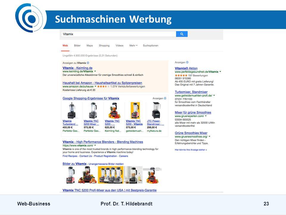 Suchmaschinen Werbung
