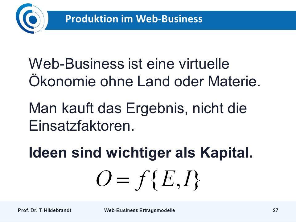Produktion im Web-Business