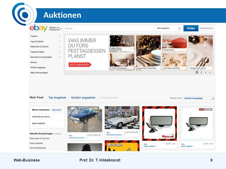 Auktionen Web-Business Prof. Dr. T. Hildebrandt