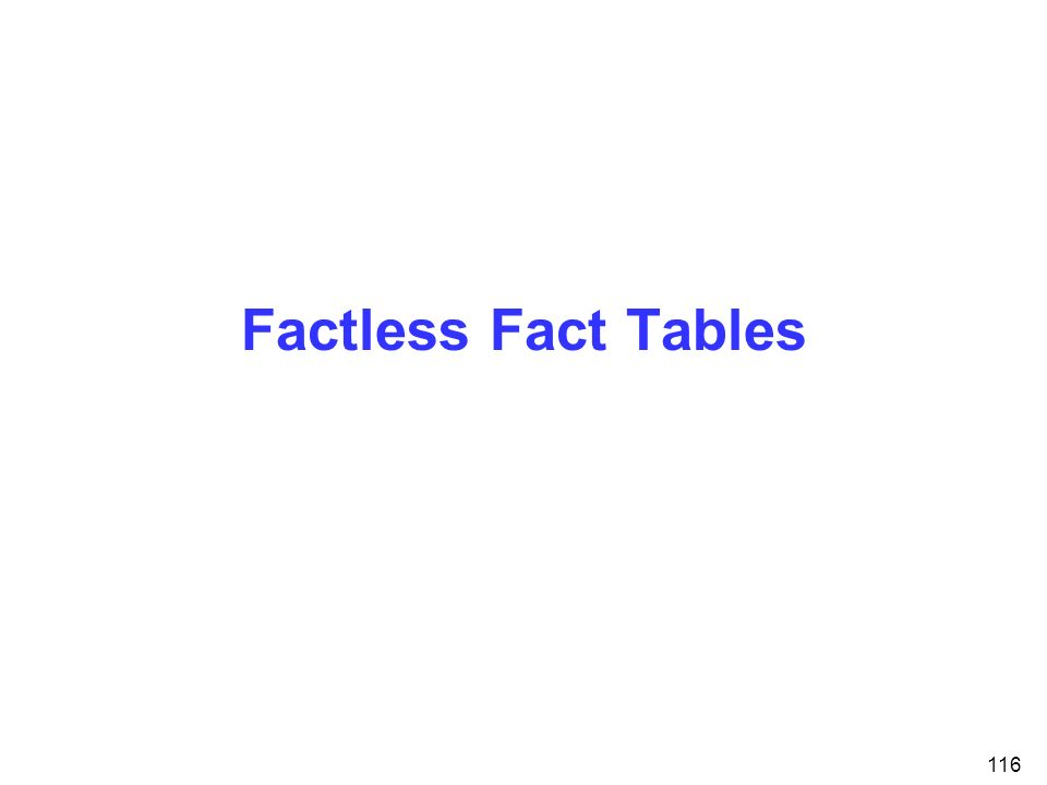 Factless Fact Tables