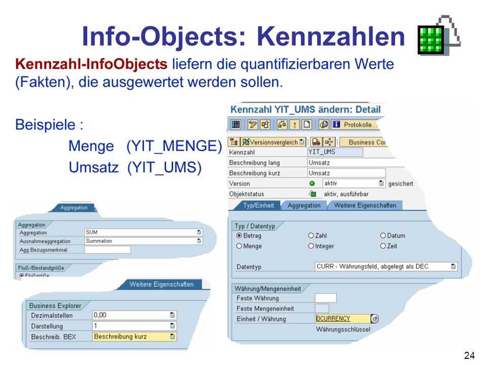 Info-Objects: Kennzahlen