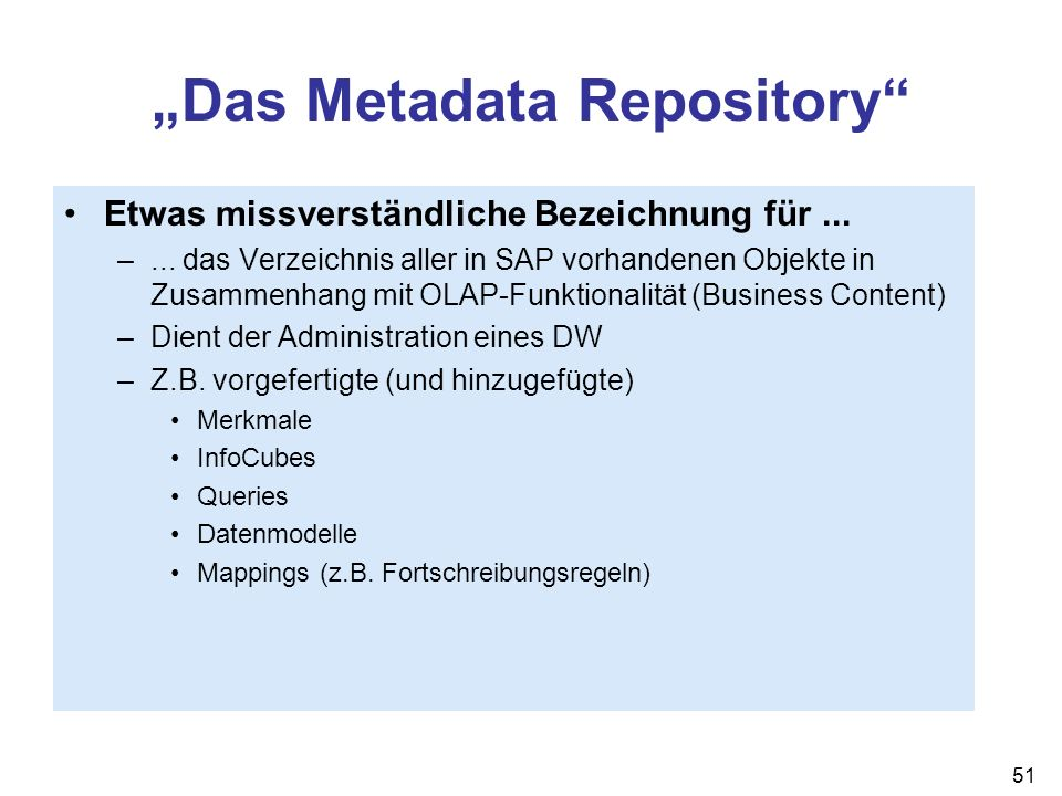 """Das Metadata Repository"