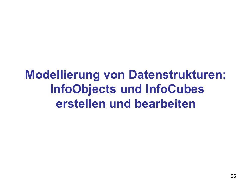 Modellierung von Datenstrukturen: InfoObjects und InfoCubes erstellen und bearbeiten