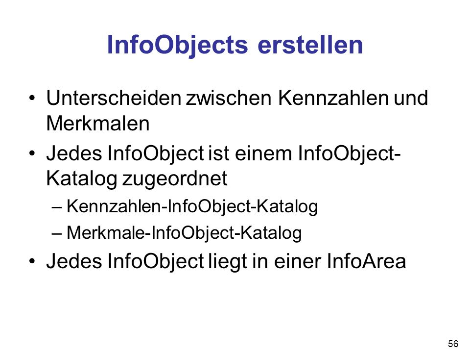 InfoObjects erstellen