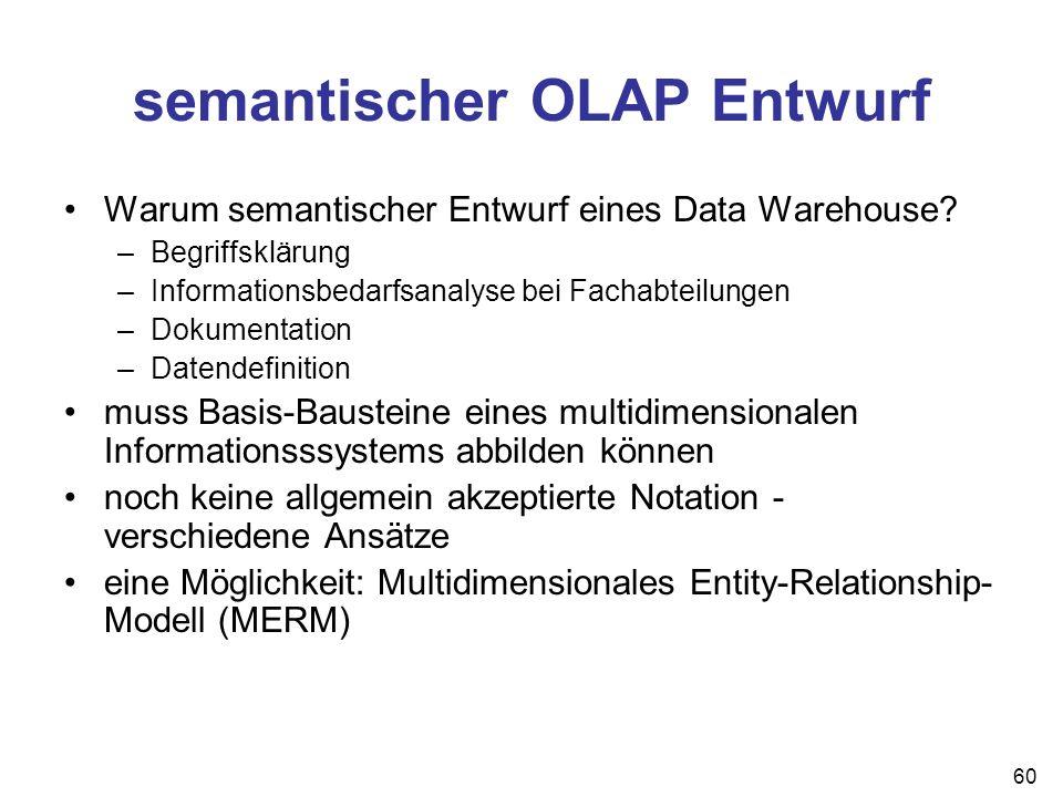 semantischer OLAP Entwurf