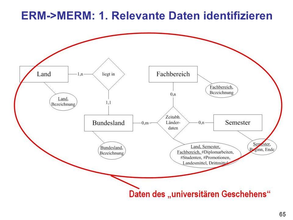 ERM->MERM: 1. Relevante Daten identifizieren