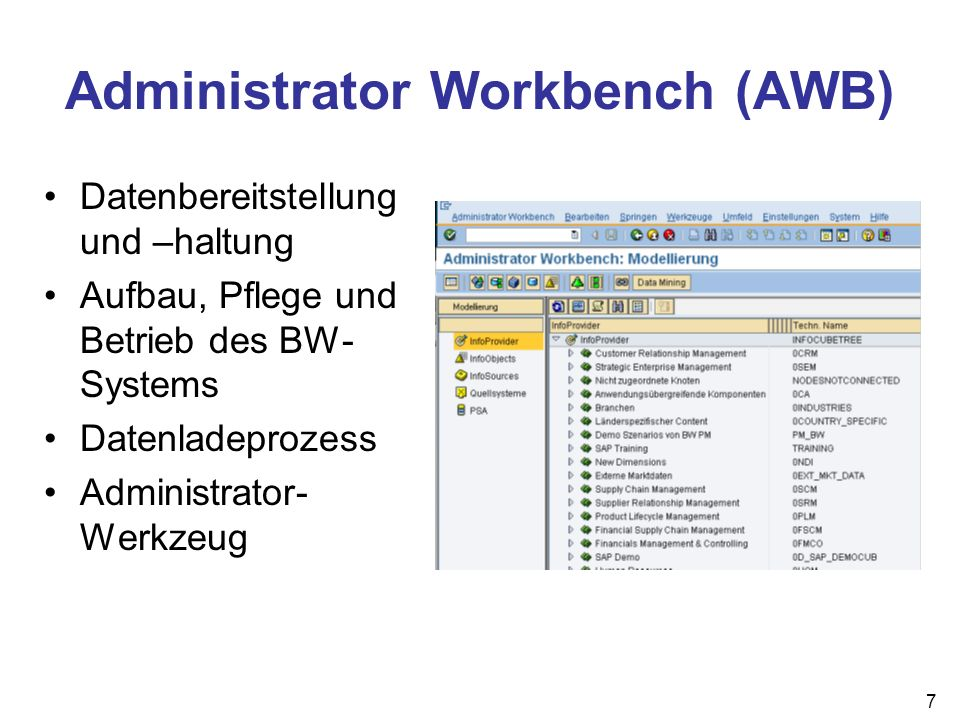 Administrator Workbench (AWB)