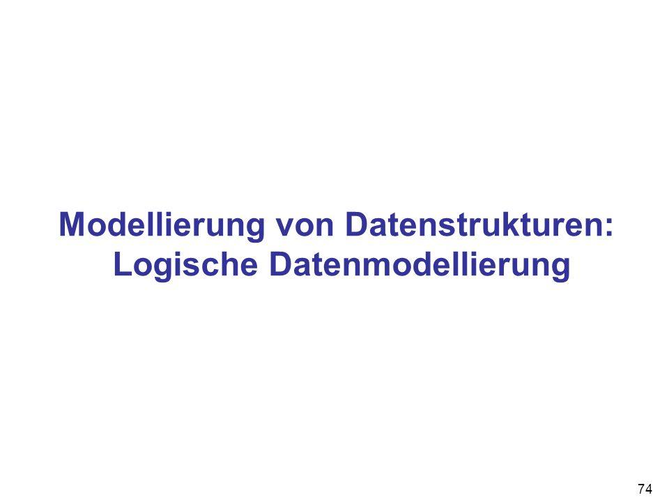 Modellierung von Datenstrukturen: Logische Datenmodellierung