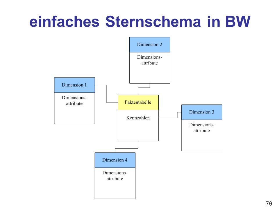 einfaches Sternschema in BW