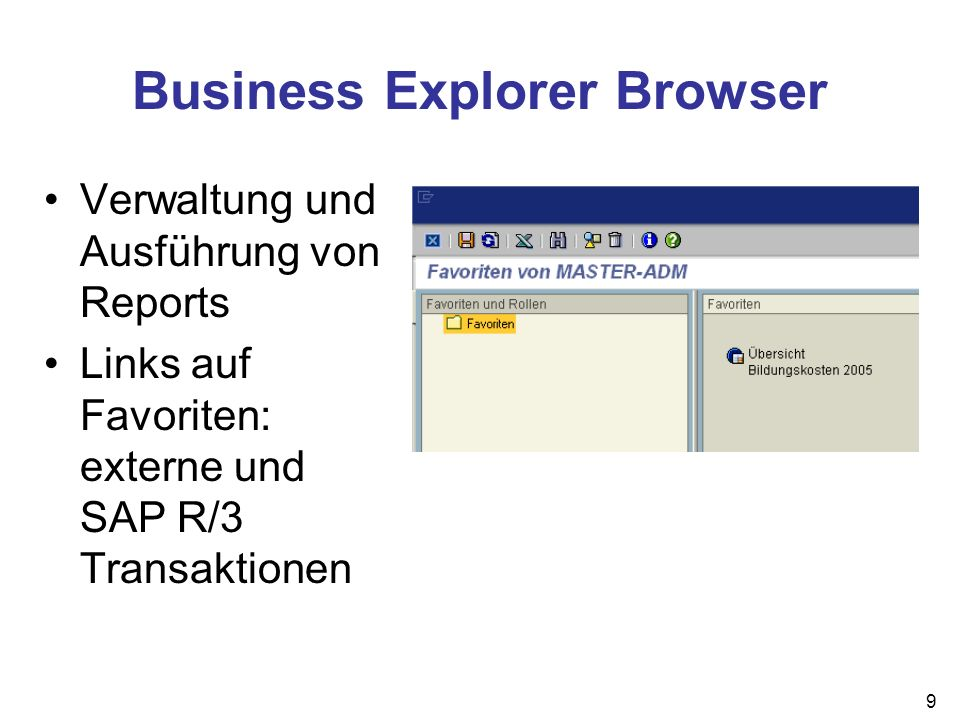 Business Explorer Browser