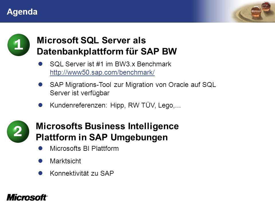 Microsoft SQL Server als Datenbankplattform für SAP BW