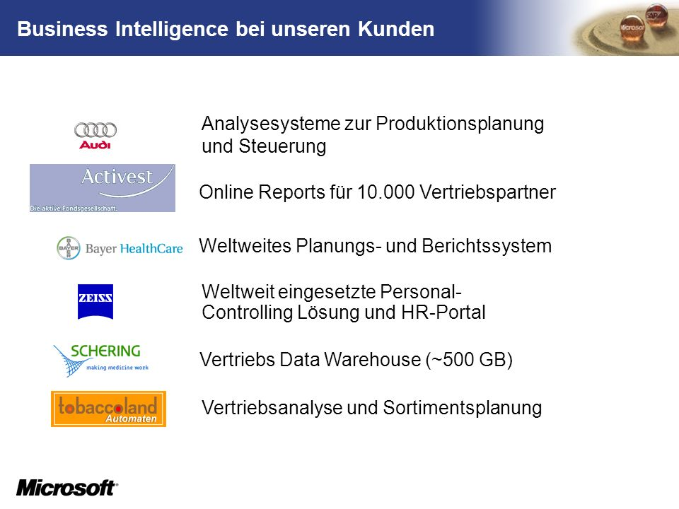 Business Intelligence bei unseren Kunden