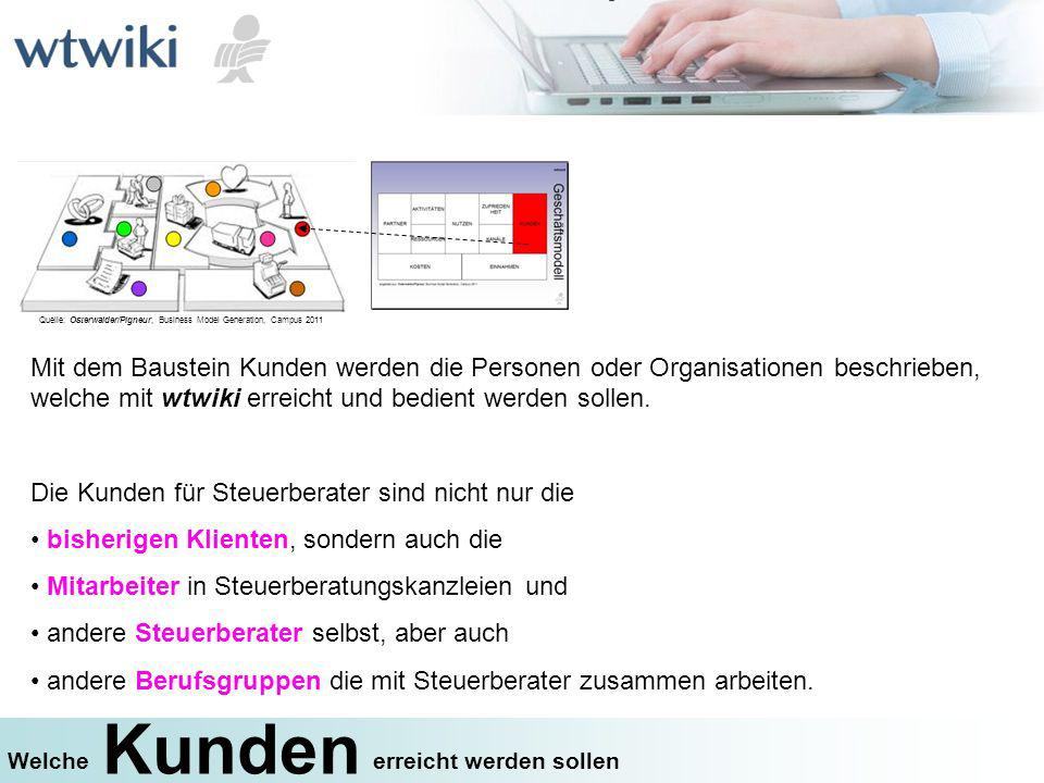 Quelle: Osterwalder/Pigneur, Business Model Generation, Campus 2011