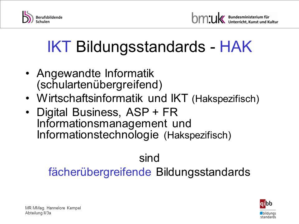IKT Bildungsstandards - HAK