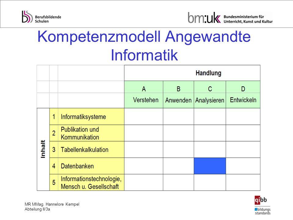 Kompetenzmodell Angewandte Informatik