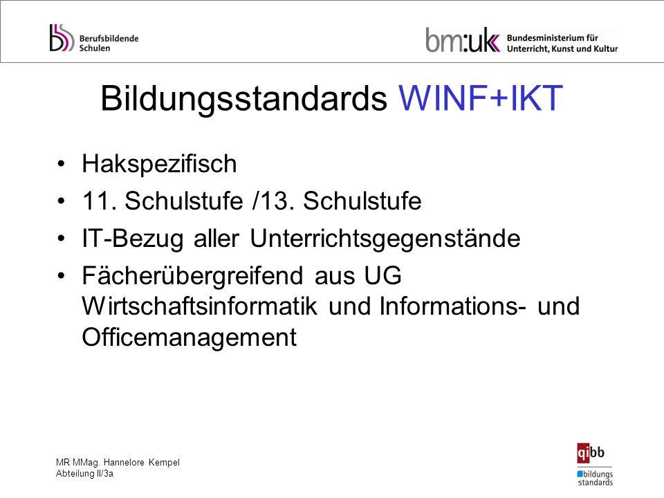 Bildungsstandards WINF+IKT
