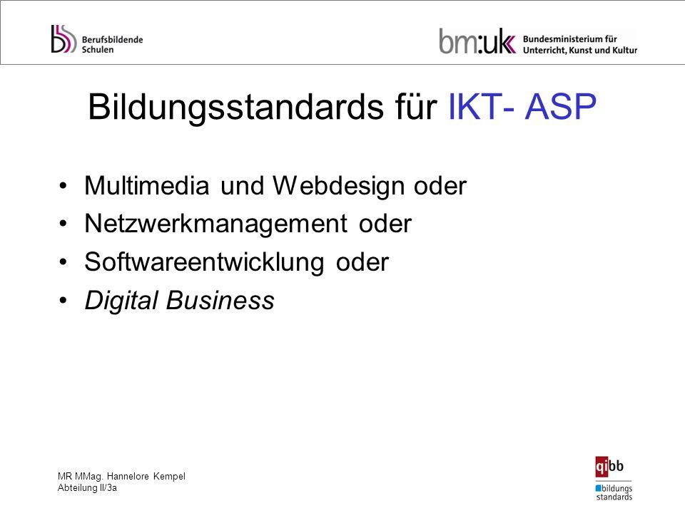 Bildungsstandards für IKT- ASP