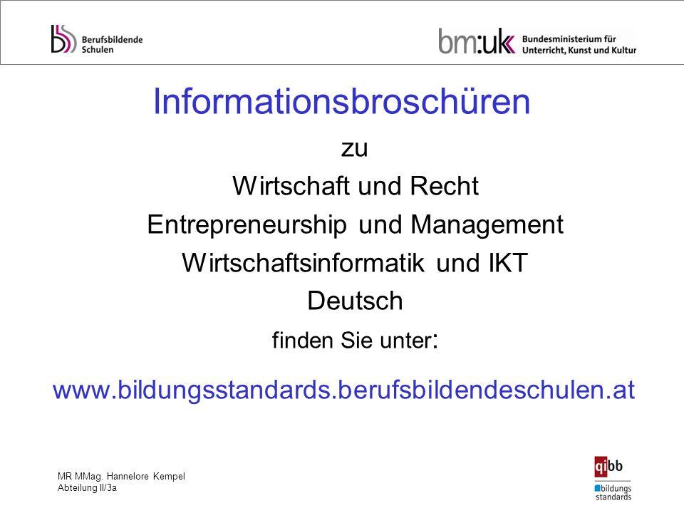 Informationsbroschüren