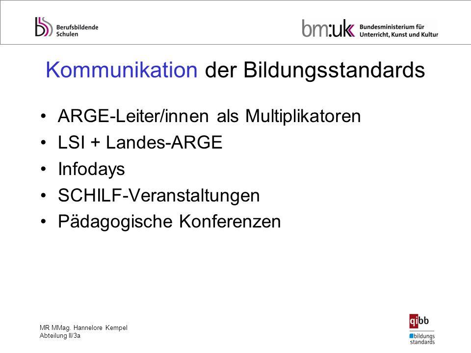 Kommunikation der Bildungsstandards