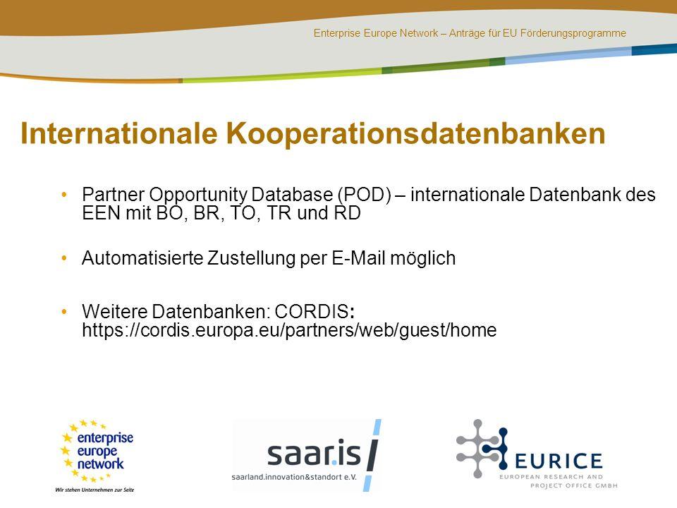 Internationale Kooperationsdatenbanken