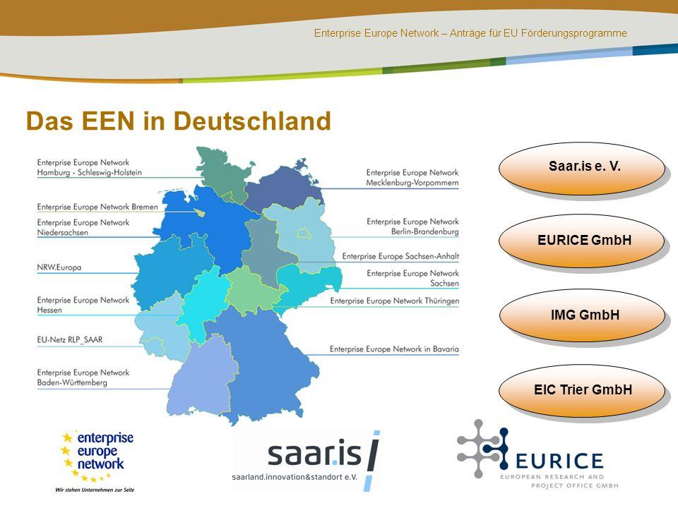 Das EEN in Deutschland Saar.is e. V. EURICE GmbH IMG GmbH