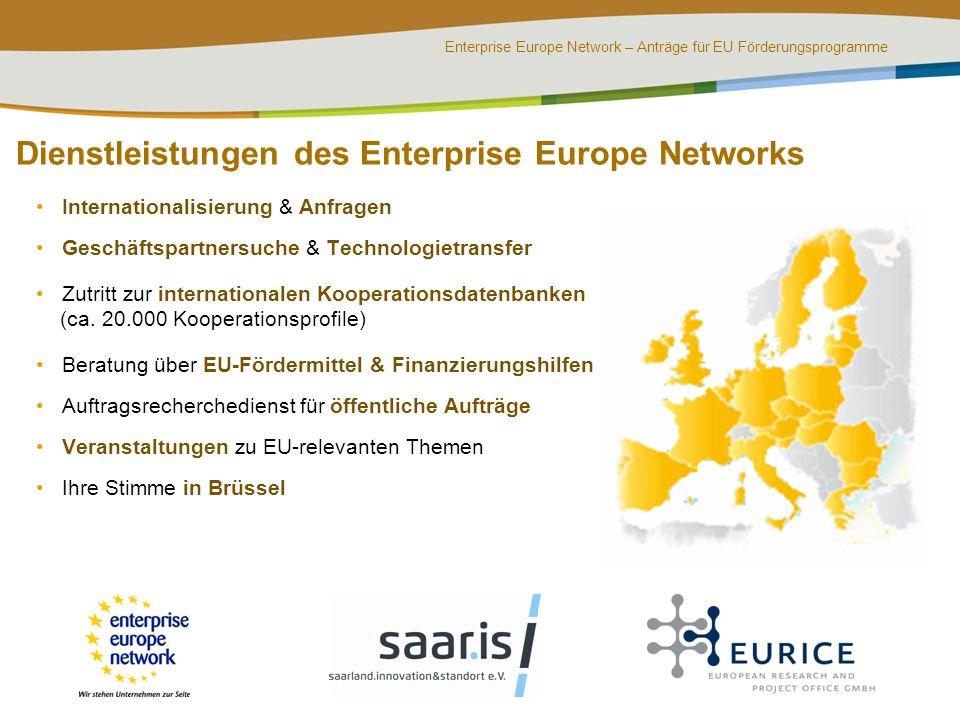 Dienstleistungen des Enterprise Europe Networks