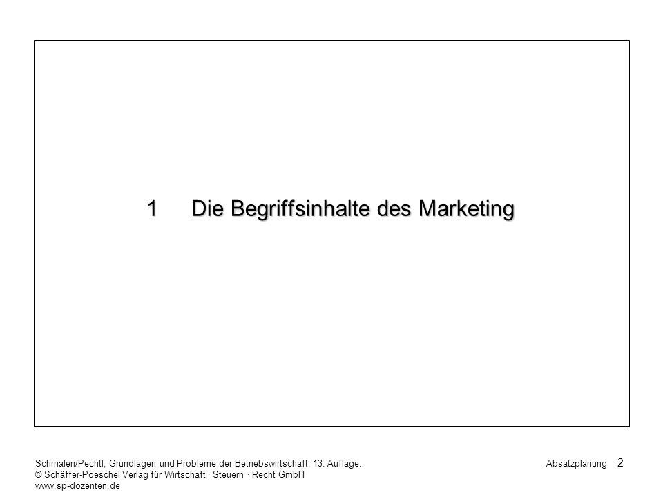 1 Die Begriffsinhalte des Marketing