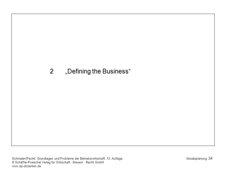 "2 ""Defining the Business"