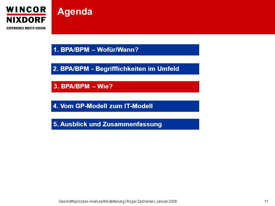 Agenda 1. BPA/BPM – Wofür/Wann