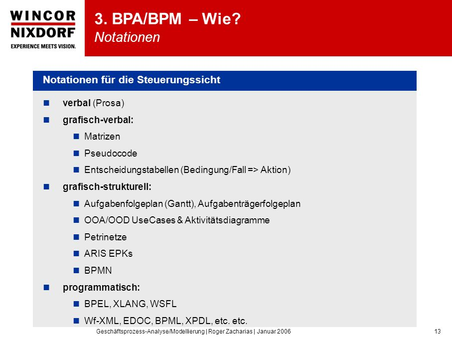 3. BPA/BPM – Wie Notationen
