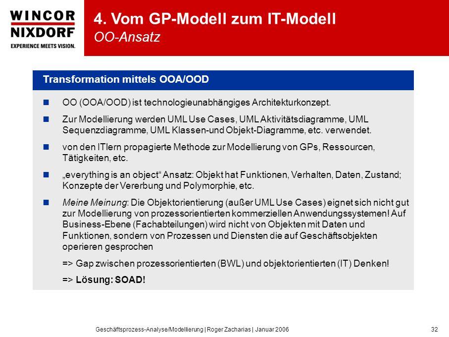 4. Vom GP-Modell zum IT-Modell OO-Ansatz