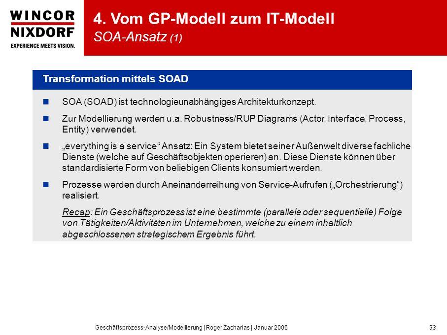 4. Vom GP-Modell zum IT-Modell SOA-Ansatz (1)