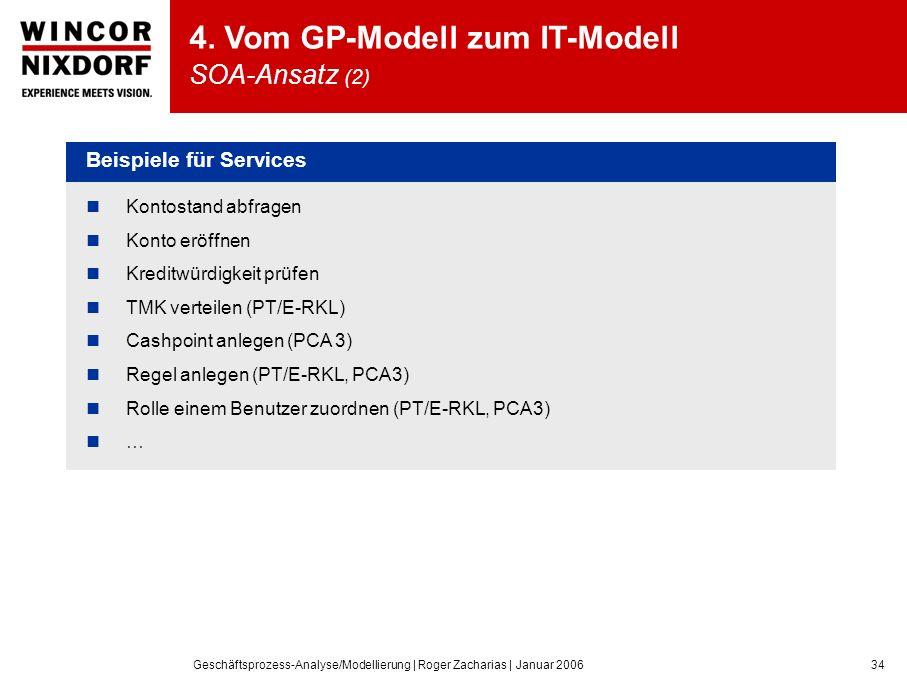 4. Vom GP-Modell zum IT-Modell SOA-Ansatz (2)