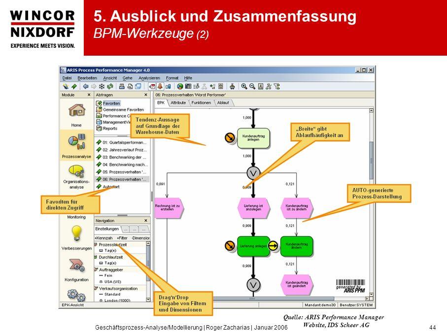 5. Ausblick und Zusammenfassung BPM-Werkzeuge (2)