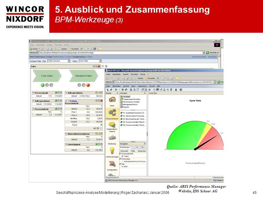 5. Ausblick und Zusammenfassung BPM-Werkzeuge (3)