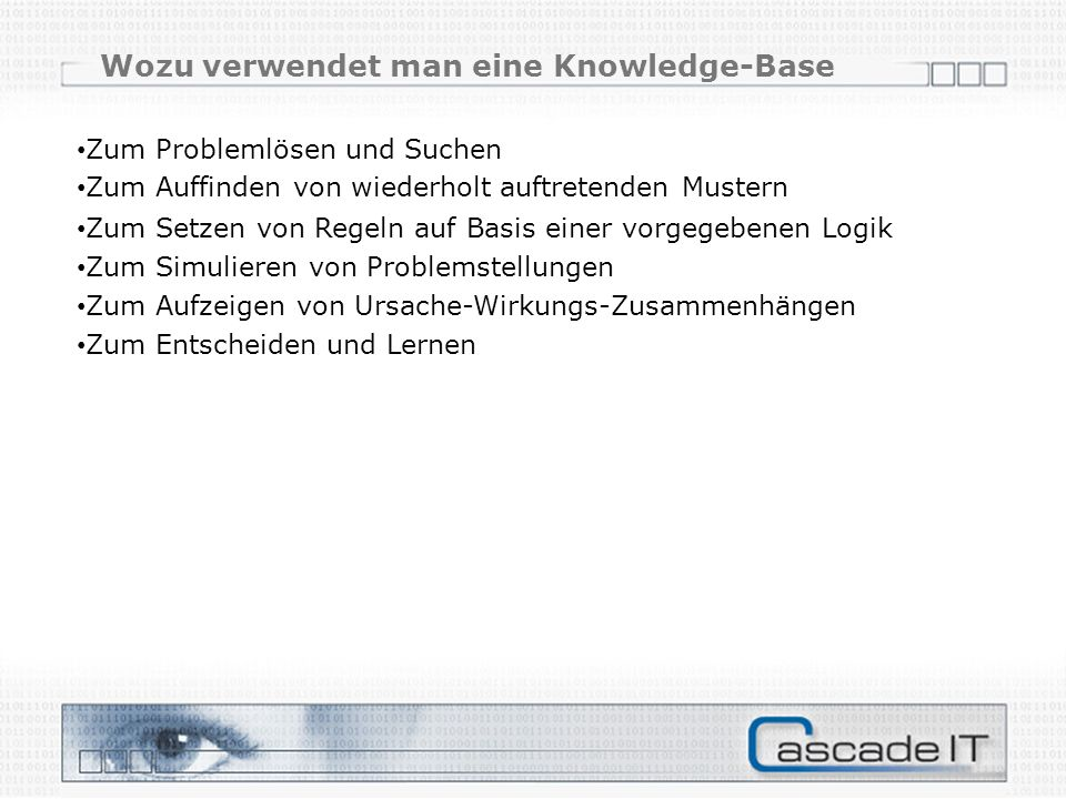 Wozu verwendet man eine Knowledge-Base