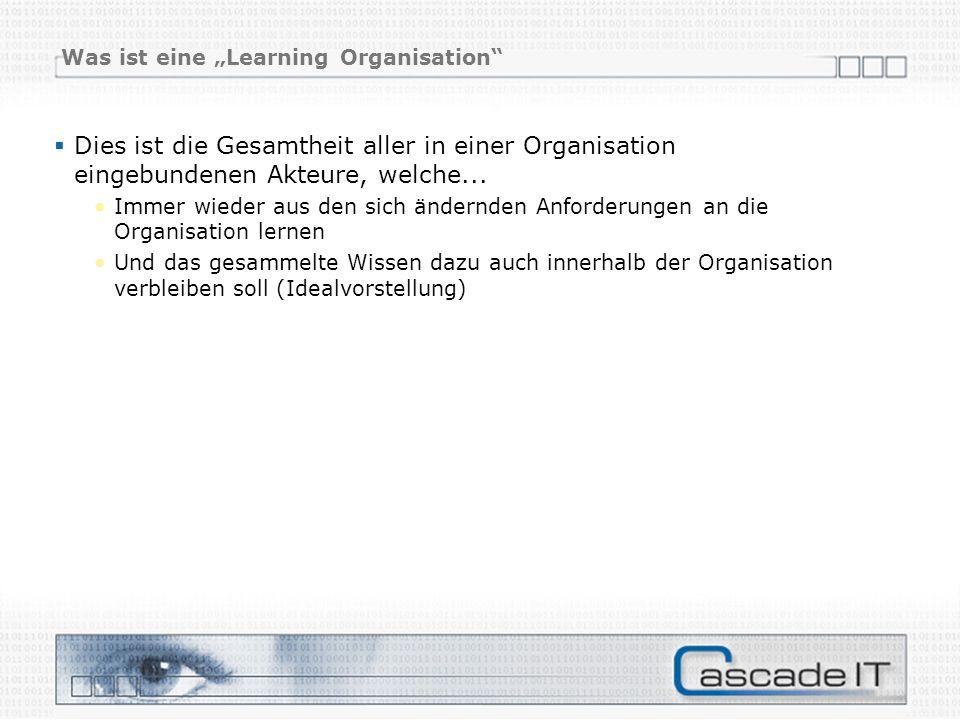"""Was ist eine """"Learning Organisation"""