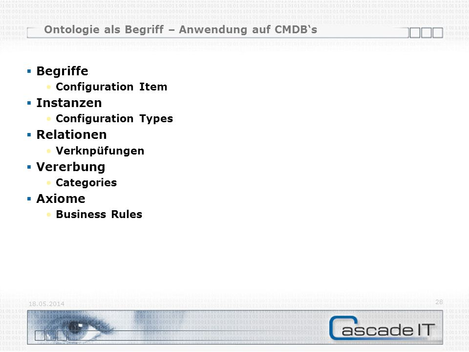 Ontologie als Begriff – Anwendung auf CMDB's