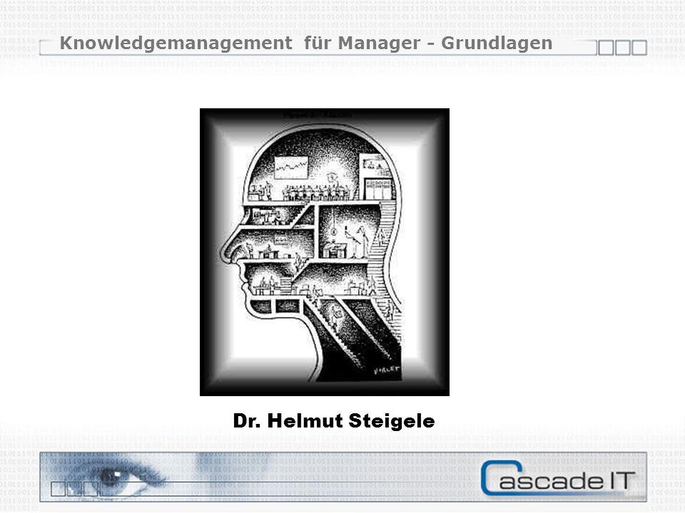 Knowledgemanagement für Manager - Grundlagen