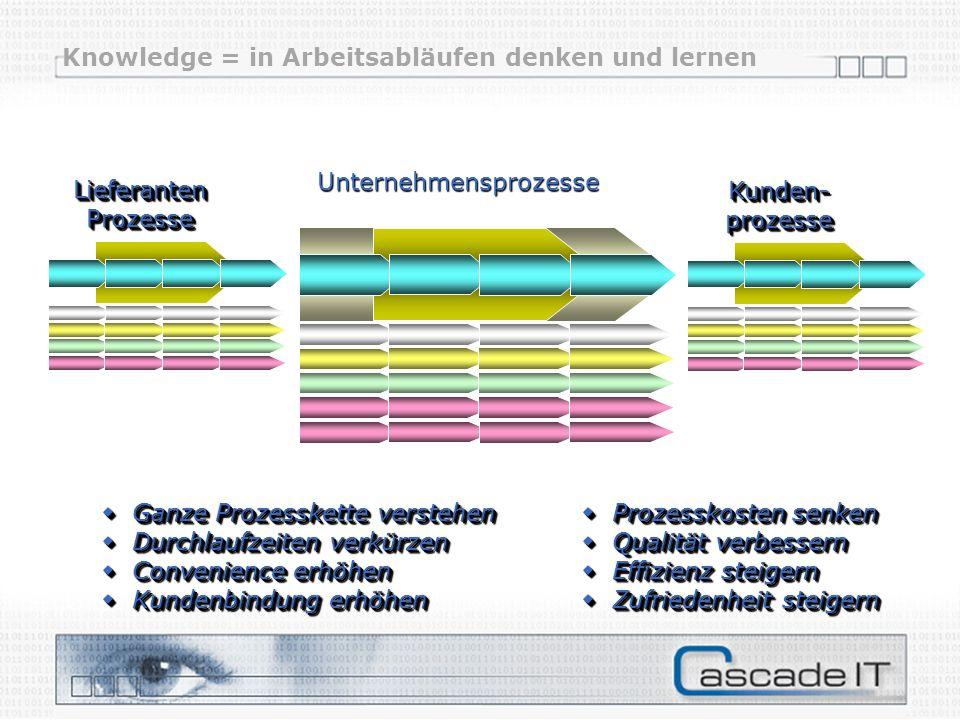 Knowledge = in Arbeitsabläufen denken und lernen