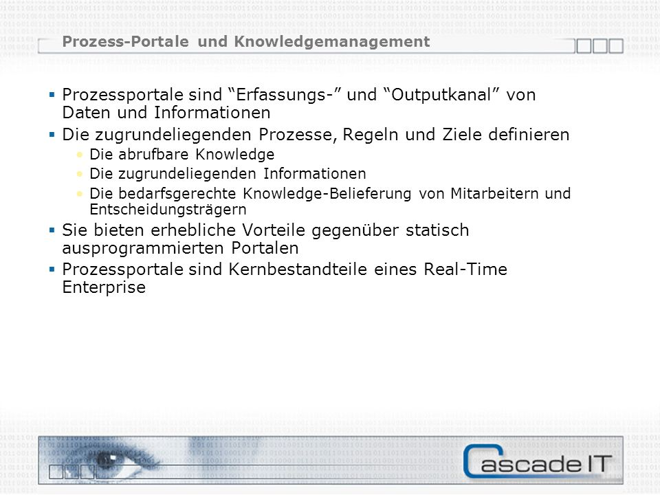 Prozess-Portale und Knowledgemanagement