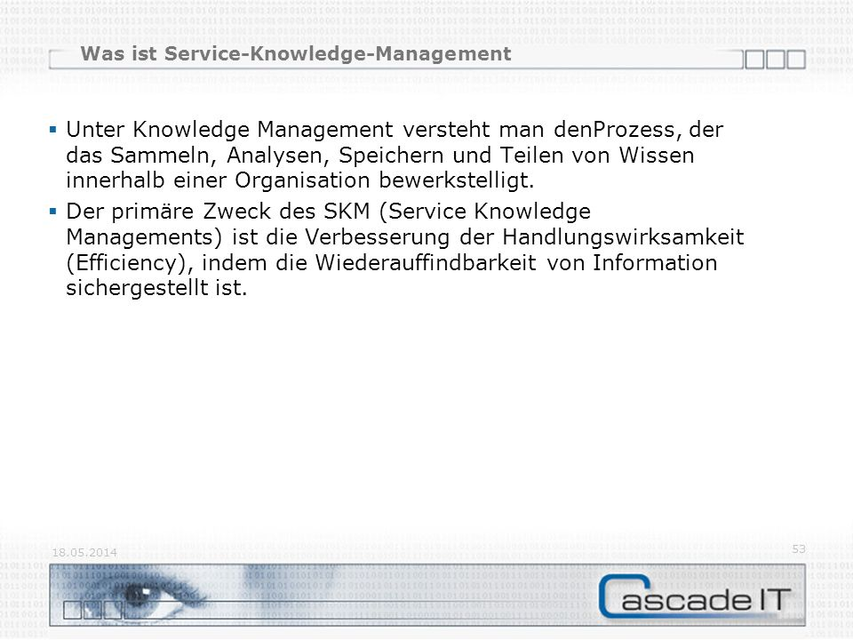 Was ist Service-Knowledge-Management