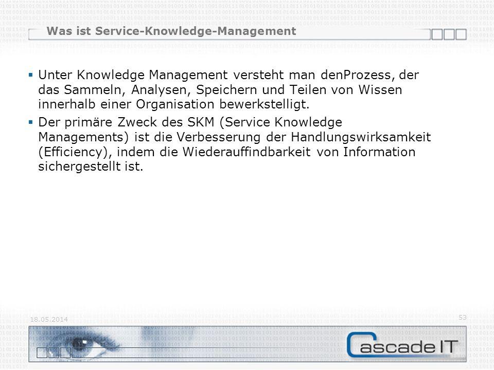 Was ist Service-Knowledge-Management